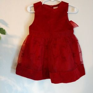 Gymboree red fancy dress size 6-12 months